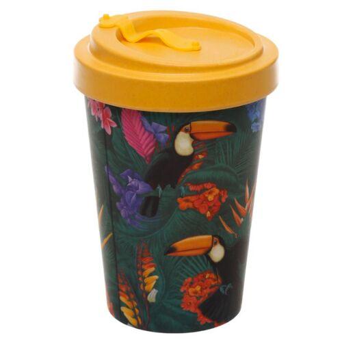 Reusable Screw Top Bamboo Travel Cup. Toucan