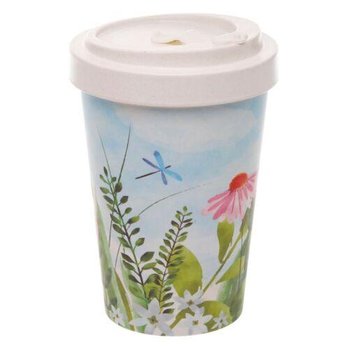 Reusable Screw Top Bamboo Travel Cup. Botanics