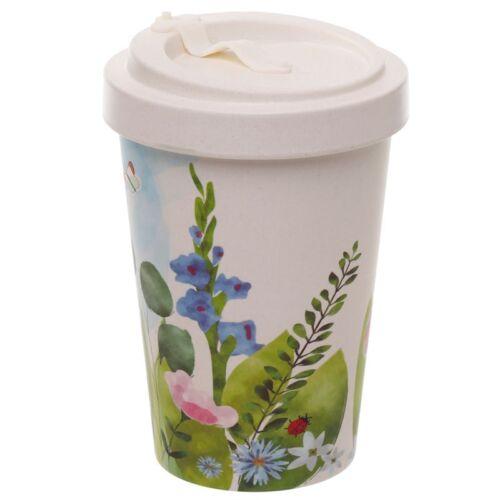 Reusable Screw Top Bamboo Travel Mug. Botanics