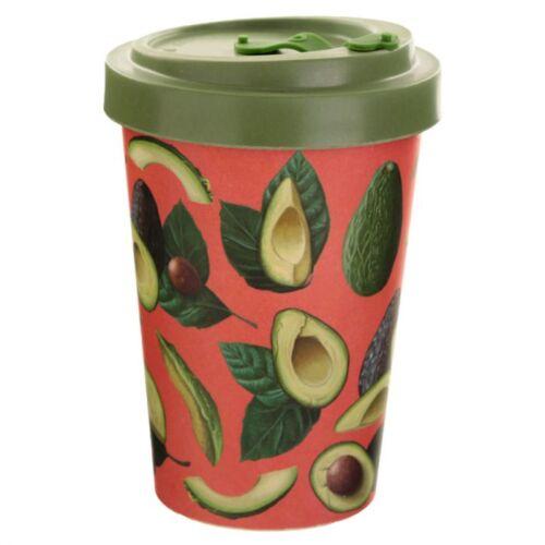 Reusable Screw Top Bamboo Travel Cup. Avocado