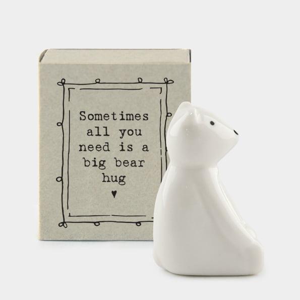 porcelain bear in matchbox