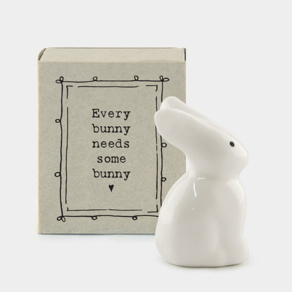 East Of India Porcelain Bunny In A Matchbox