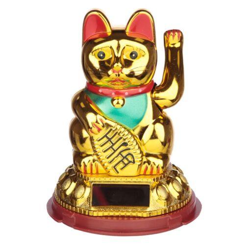Lucky Golden Waving Cat. Solar Powered