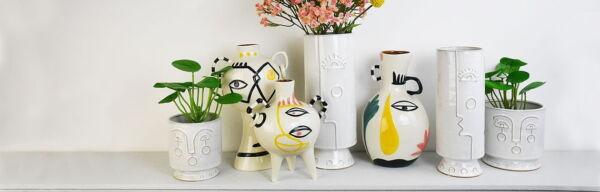Gisela Graham Modernist vases .