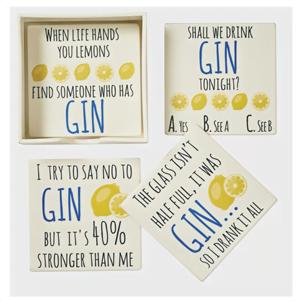 gin coasters set of 4