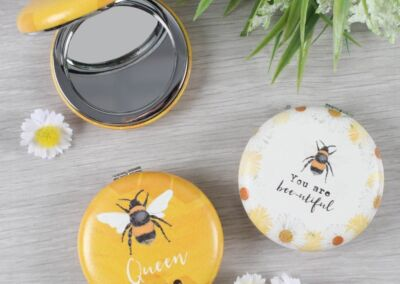 compact mirror bees