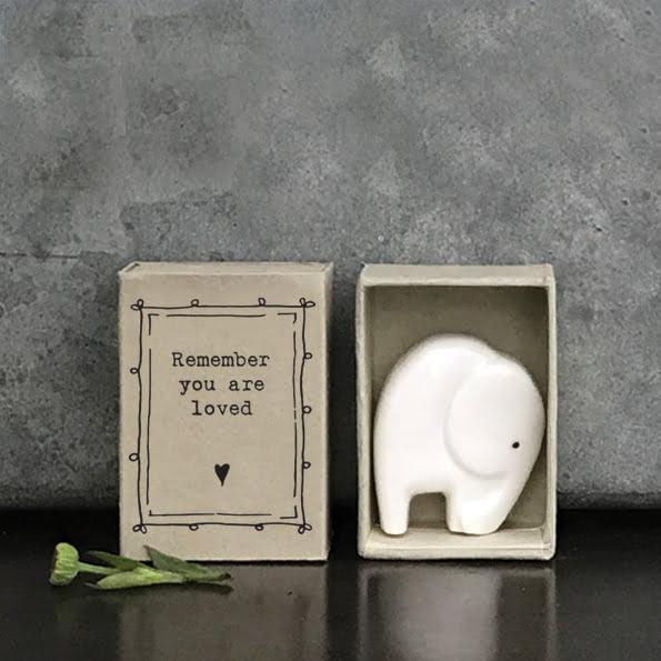 East Of India Matchbox Elephant
