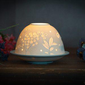 spring porcelain tealight