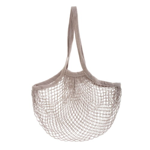 Grey string shopping Bag