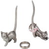 pewter cat ring holders