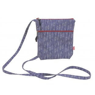 Small Canvass Cross Body bag, Stripes