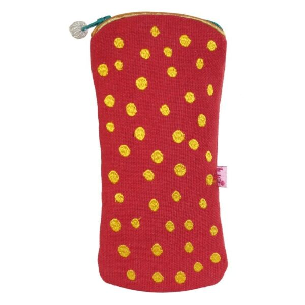 Lua Glasses Case. Red Dots