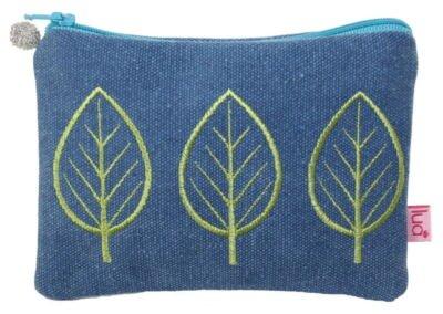 Canvas purse leaf design
