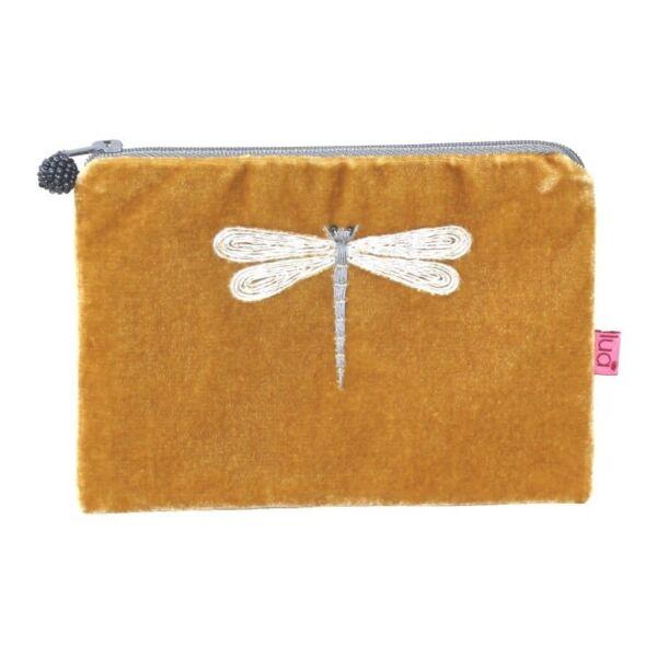 Ochre small purse dragonfly design