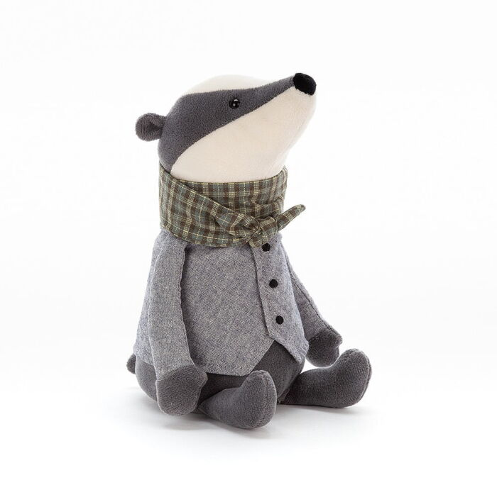 jellycat badger soft toy