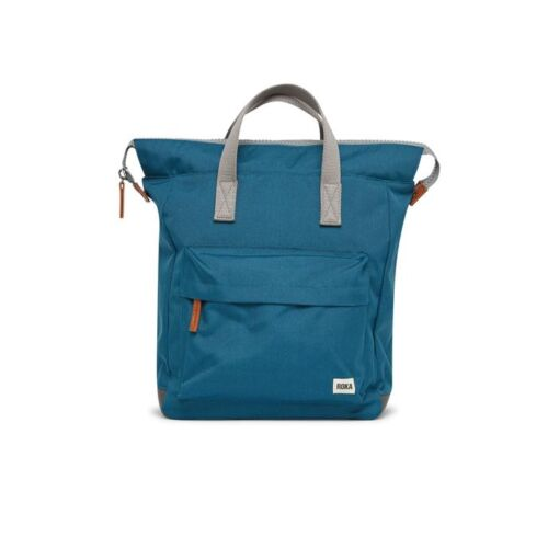 Sustainable recycled ~Roka backpack in Marine colour.