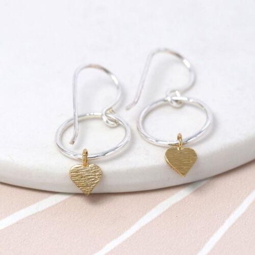 sterling silver hoop heart earring