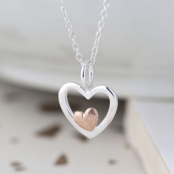Necklace Heart Silver Sterling