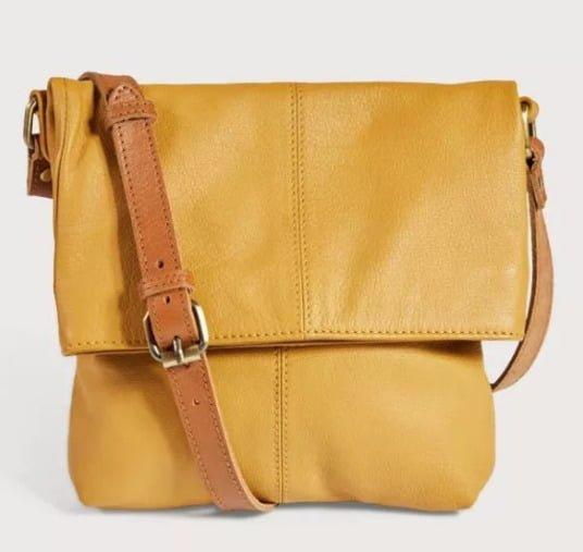 Mustard cross body leather bag