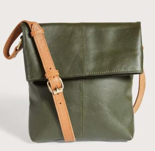 Dark Green Cross Body Leather Bag