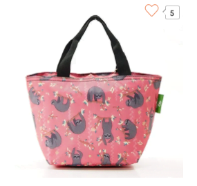 Lunch bag pink sloth