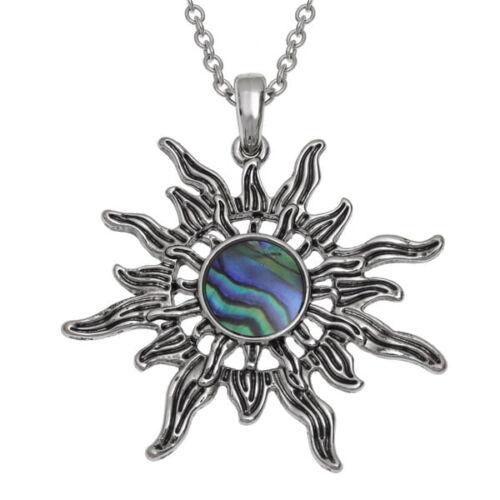 sunburst paua shell pendant