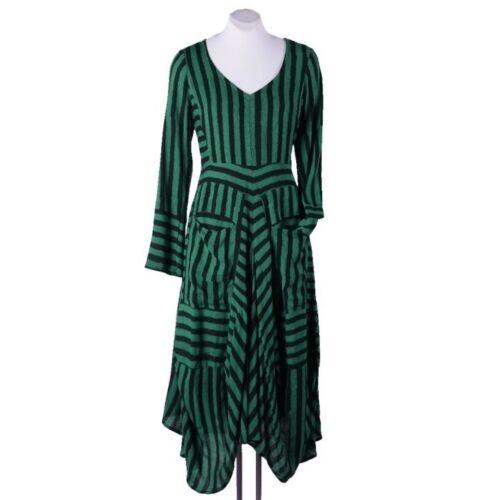 glamorous green striped dress by Heart