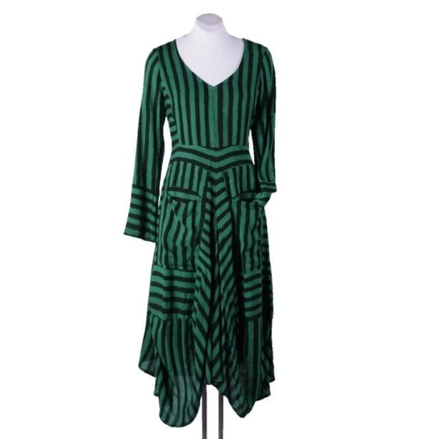 glamourous green striped dress by Heart