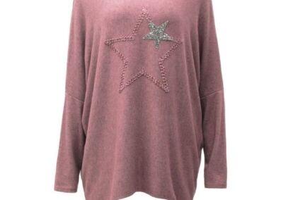 Oink .Top Knit Soft Star Women's