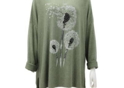 Khaki .Top Knit soft Dandilion Dandilion