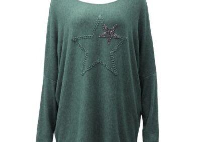 Teal .Top Knit Soft Star Women's