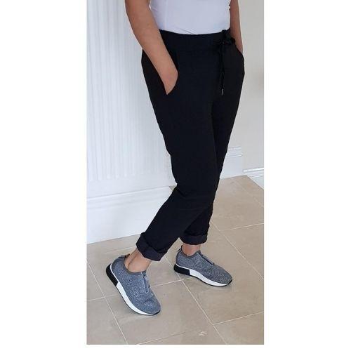 Black Trousers Stretch Ladiesi