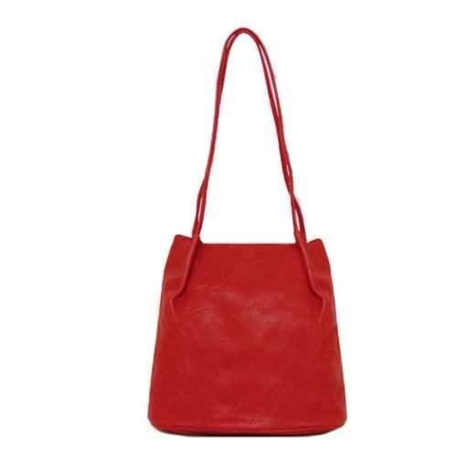Shoulder Bag with Long Straps. Red
