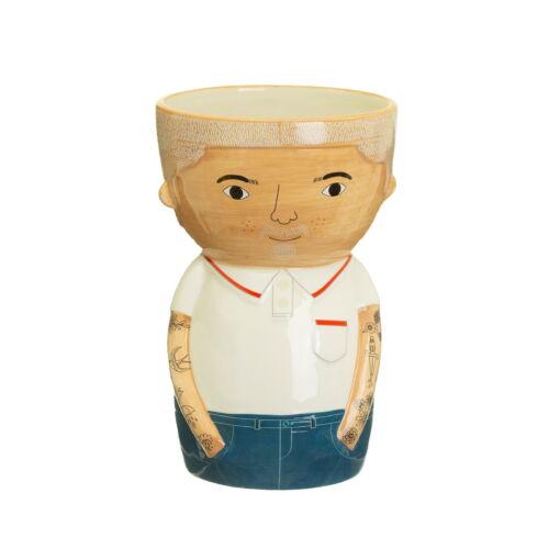 Bradley male ceramic vase figure