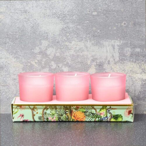 set of 3 shea scent candles