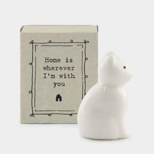 Porcelain Cat Gift in a matchbox