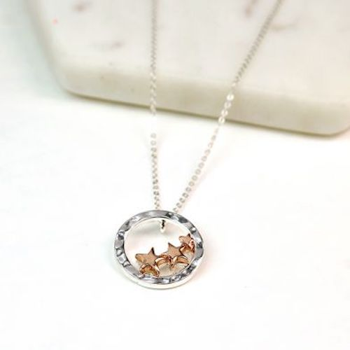 siver plated star necklace