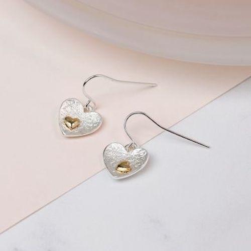 silver plated heart earrings