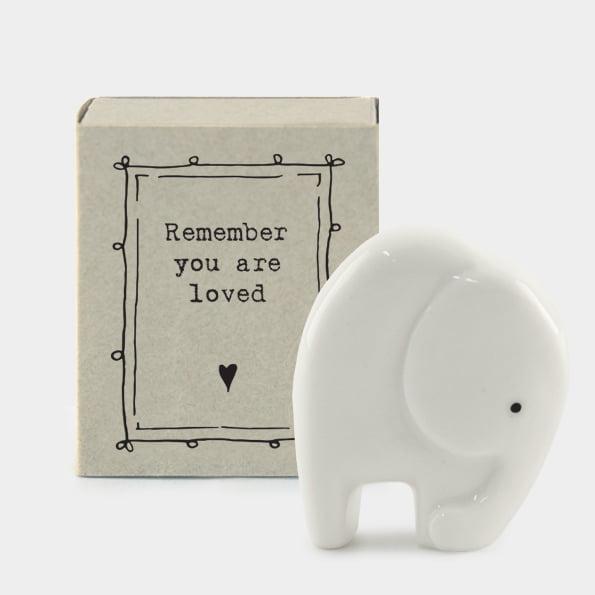 Matchbox Porcelain Elephant