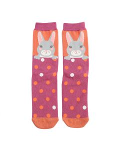Ladies bamboo socks Miss Sparrow Rabbits
