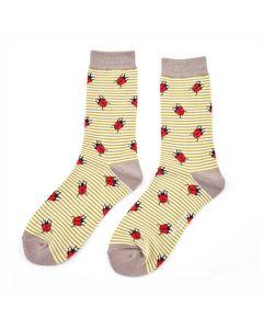 Ladies Soft Bamboo Socks, Ladybirds