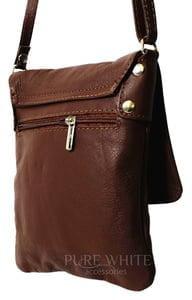 ladies brown leather cross body bag