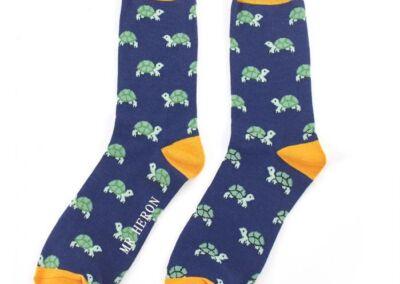 Mr Heron Men's Bamboo Socks. Turtles