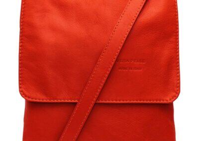 Cross Body Leather Bag Orange