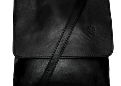 ladies black leather cross body bag