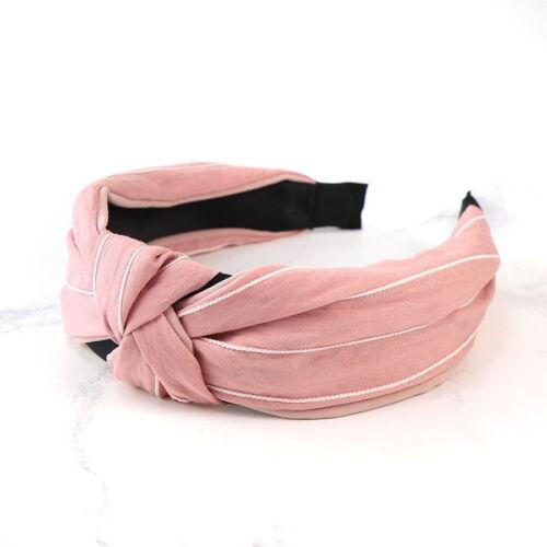 Pink and white stripe headband