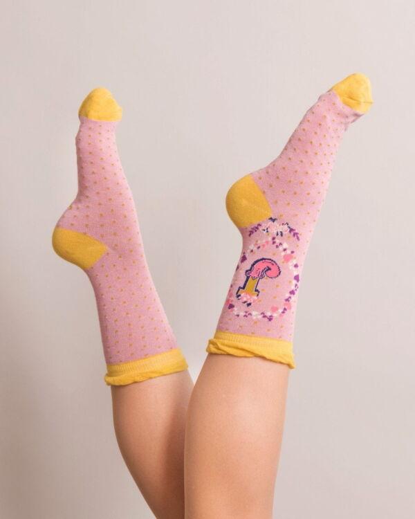 Powder Alphabet socks J