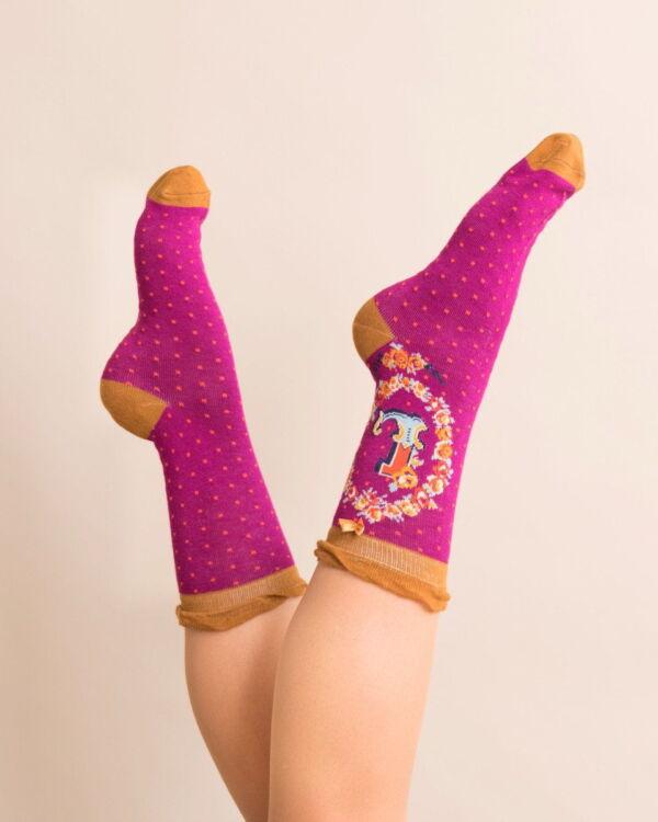 Powder Alphabet socks L