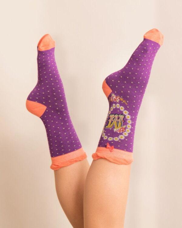 Powder Alphabet socks M