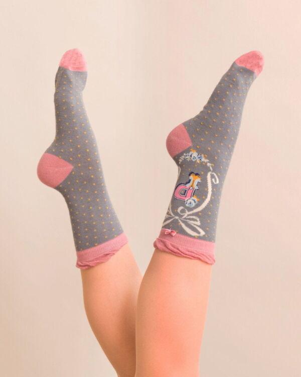 Powder Alphabet socks P